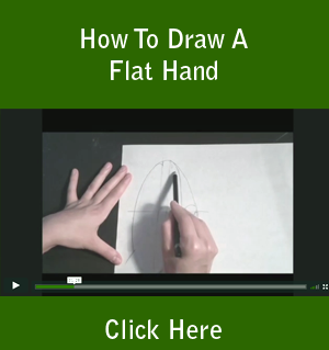 How To Draw A Flat Hand